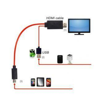 MHL Cable Watch Mobile Screen In LCD,LED Tv For Samsung Mobiles