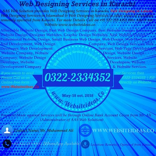 Web Designing Services in Karachi