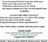 Classes for all classes!!!