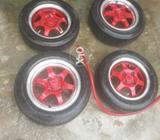 Suzuki Khyber Rim s with Tyres