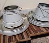 3 Hens feeding pot 1 water pot