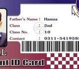Student card, job card, teacher card