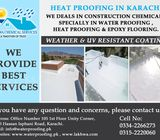 heat proofing of roof pakistan