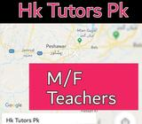 Male and Female teacher's available