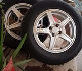 Toyota alloy rim with tires