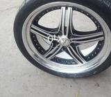 Tyer & rim made in japan zx v8 signus lexus amg 24 inch size