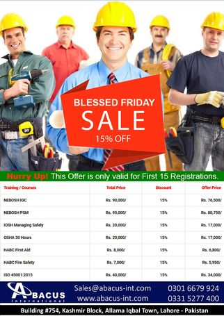 NEBOSH IGC Blessed Friday Offer 2018 - Abacus International