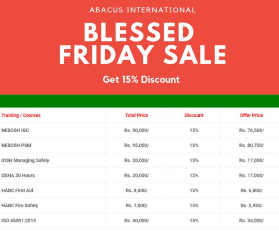 International Safety Courses Sale 15% OFF #BlessedFriday