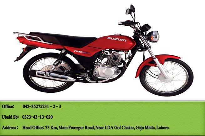 Suzuki GD 110S for Sale with One Free Gift.