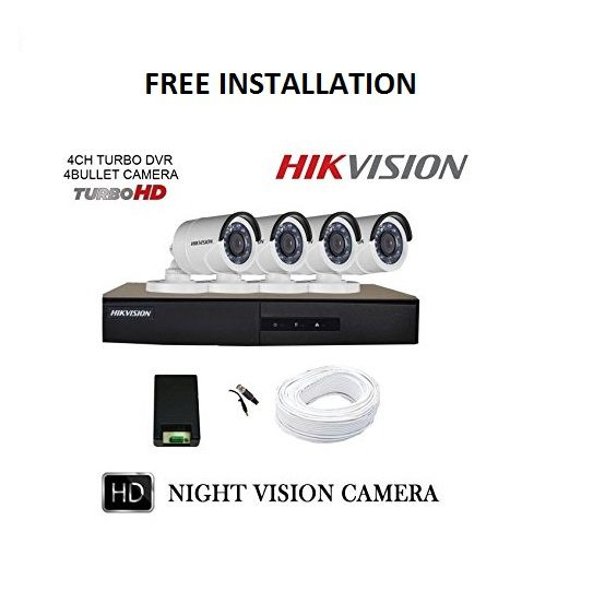 4 CCTV Cameras Package with Installation