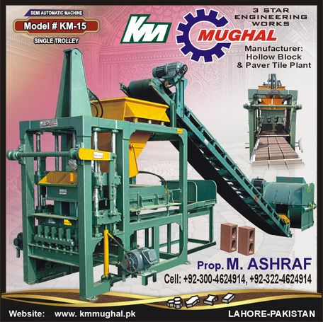 Semi-Automatic Pavers & Hollow Blocks Plant