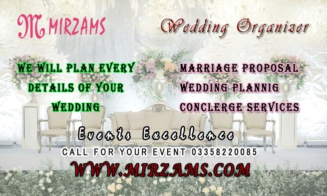 Wedding Organizers in Karachi Pakistan