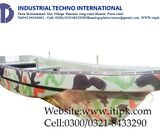 Fiberglass camouflaged color boat