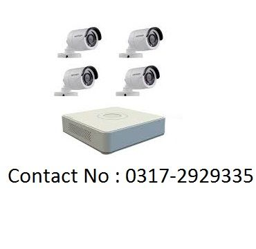 4 CCTV Cameras 1 Year Warranty With Complete Installation