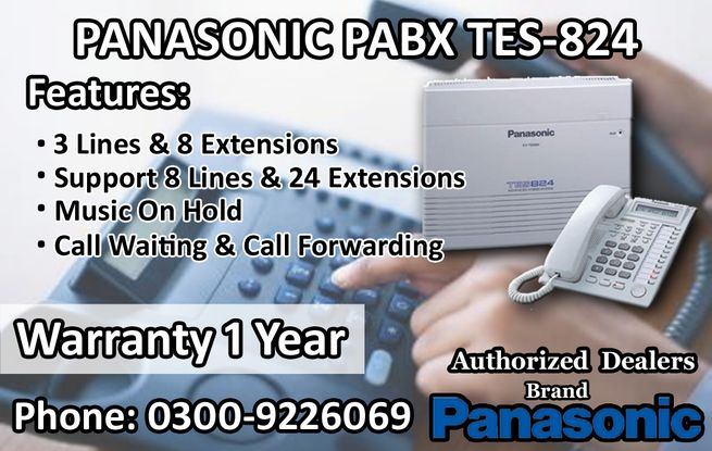 Panasonic PABX (Model TES-824) Internal & External Communication Machine