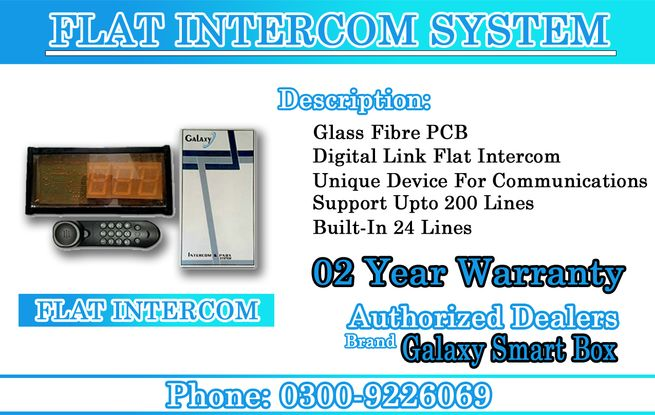 Galaxy Smart Box Flat Intercom For Buildings in Affordable Rates