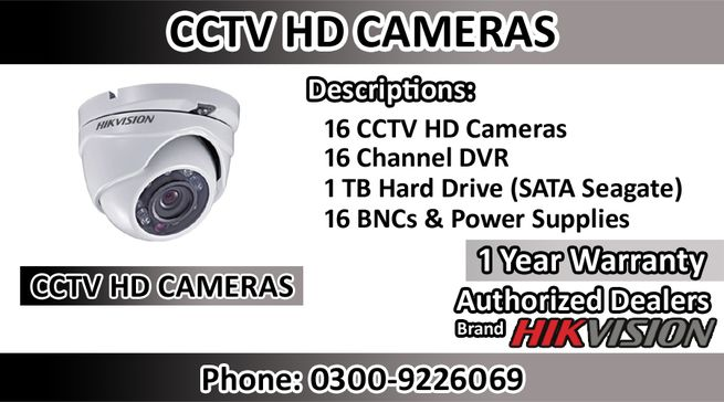 Security Cameras Brand HIK Vision With 1 TB Hard Disk