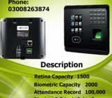 BRANDED RETINA SCANE TIME ATTENDANCE MACHINE IN KARACHI