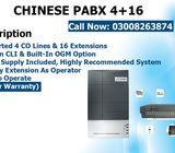 Chinese PABX 4+16 In Karachi Pakistan