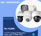 14 CCTV Camera Scurity System With HD Resolution