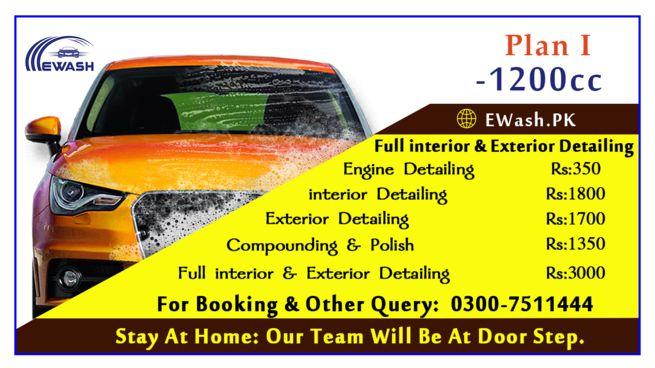 interior & exterior car wash service at your door step