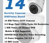 14 Secirity Cameras with HIKVision In Karachi