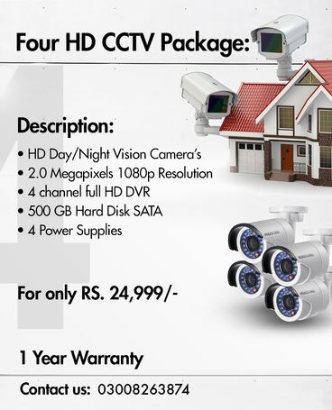 4 HD CCTV Package