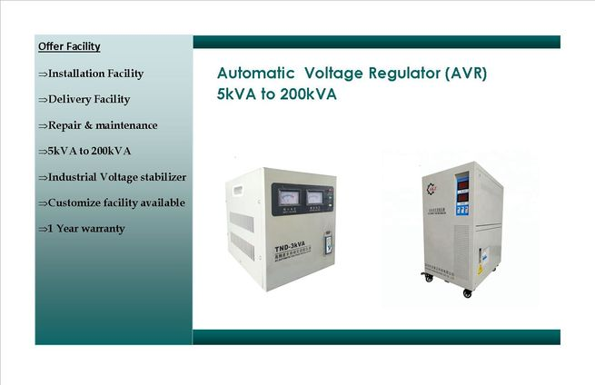 AUTOMATIC VOLTAGE REGULATOR  7.5kva