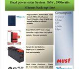 SOLAR SYSTEM NEW BRAND  1KVA  2KVA  3KVA  5KVA
