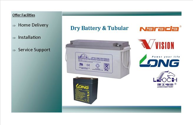 Dry Battery long 5ah 12 volt