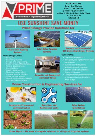 Solar landscaping irrigation tube well civil works