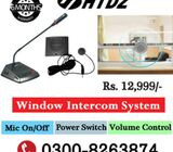 Counter Window Intercom System
