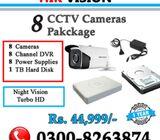 Package of 8 CCTV Cameras (1 Year Warranty)