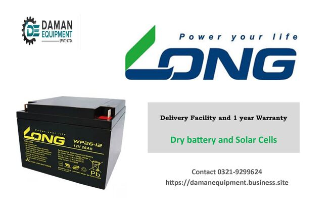 LONG BATTERY 65AH/12V WITH 1 YEAR WARRANTY