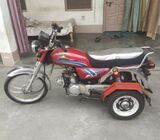 3 wheel selfstart bike for disable person old age and new user