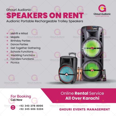 Speakers Available On Rent For Indoor Outdoor Events