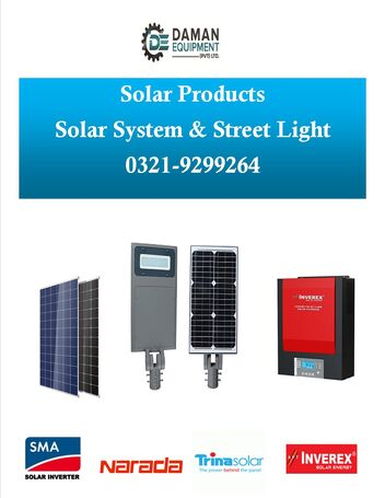 5kw solar system inverter inverex trina panel 200ah (4) dry batteries (long) with fitting & installa
