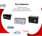 Long Dry Battery 65ah/12v with 10 months warranty delivery all over Pakistan