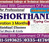 ShortHand course in Faisalabad Sialkot