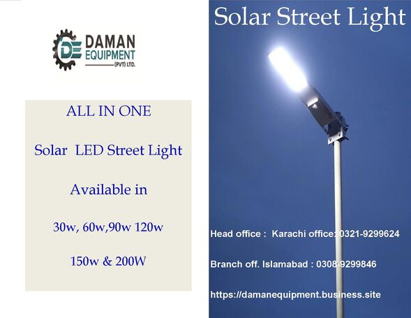 Solar Led Street Light 30w Polycrystalline ABS material with 18 months warranty delivery all over Pa