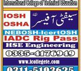 IOSH LEVEL-3 course in rawalpindi/islamabad/pakistan
