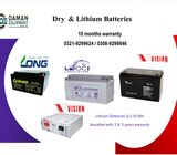 Long Dry Battery 40ah/12v with 10 months warranty delivery all over Pakistan