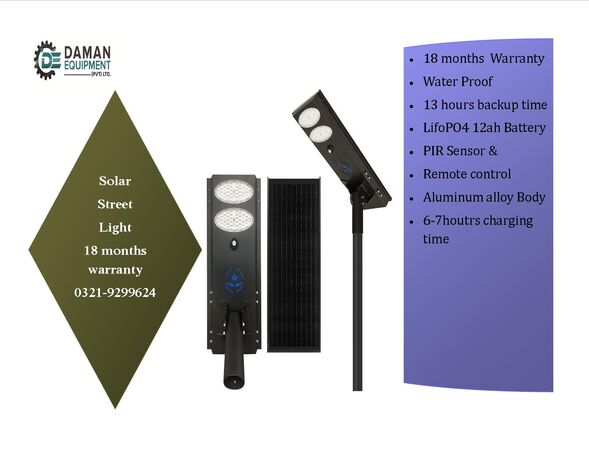 solar Led Street light 60w with 18 months warranty delivery all over Pakistan