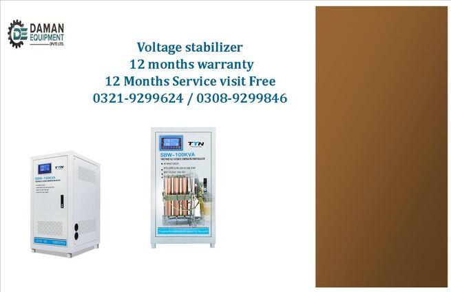 Voltage Stabilizer KRMM TND single phase 5kva with 12 months warranty & 12 months free service.