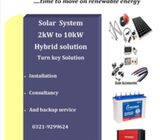 SOLAR SYSTEM   1000WATTS  WITH BATTERIES - INVERTER - PANNELS