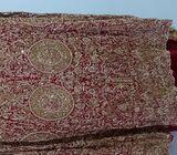 Red Tail lehnga with peplum full embroidry wrk