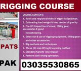 Rigger Level 3 Course    Level 2 Course   Islamabad-Appointed Person Rigging