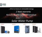 SOLAR WATER PUMP 300 FEET DEPTH - INVERTER 1200 WATTS  -  275 WATTS  PANELS  /