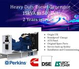 PERKINS UK DIESEL GENERATOR 300KVA STANDBY /