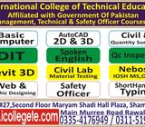 Quantity surveyor QS attested Experience based Diploma in rawalpindi shamsabad 03354176949